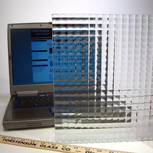 Lineal / Geometric Glass Patterns, Cross Reeded Glass