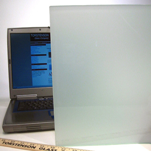 Solid Obscure Glass, White Laminated Glass